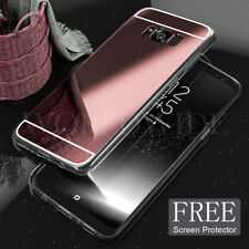 Luxury Ultra-thin Mirror Clear TPU Soft Case Cover For Samsung Galaxy S7 S8 Plus