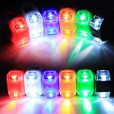 LED SUPERBRIGHT SILICONE SAFETY BIKE BICYCLE FROG HEAD FRONT REAR WHEEL LIGHT NF