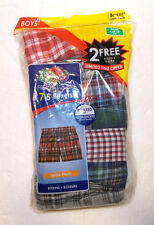 Fruit of the Loom Boys Boxers 7 Pack Plaids Size S 6-8 NIP