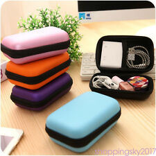 EVA Hard Carrying Case Bag Storage Box Coin Purse for USB cables Earphone MP3 LN