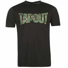 Tapout Camouflage Logo T-Shirt Mens Anthracite Sportswear Top Tee Shirt
