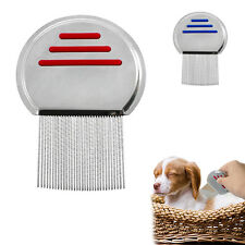 Pet Puppy Dog Cat Comb Long Hair Shedding Grooming Flea Comb Stainless Steel