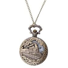 Vintage Bronze Antique Pocket Watch Necklace Quartz Pendant Collection Gift