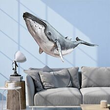 Humpback Whale Wall Decal Vinyl Sticker Graphic Whale Wall Art Nursery Decor