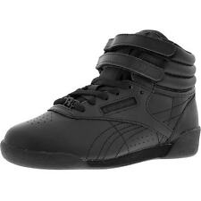 JUNIOR REEBOK J93532 FREESTYLE HI BLACK SNEAKERS UNISEX RETRO SPORTS *NEW IN BOX