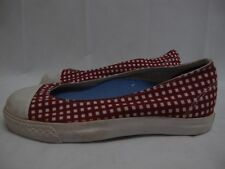 Womnes Converse All Star Skimmer Red White Textile Slips On Trainers