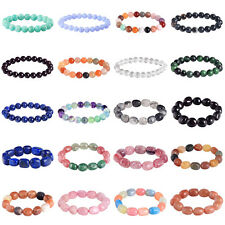 B2G1! Bracelet Round Bead Natural Stone Charming Crystal Unisex Stretch Jewelry