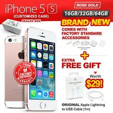 New & Sealed Factory Unlocked APPLE iPhone 5S 16 32 64GB Rose Gold 1 Yr Warranty