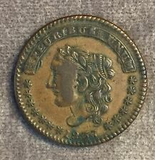 1837 S Maycock & Co New York Hard Times Token coin