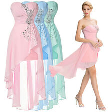 Sexy Short Bridesmaid Dress Chiffon Gown Wedding Cocktail Evening Party Dresses