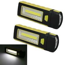 2pcs LED COB Camping Work Inspection Light Lamp Hand Torch Magnetic Hot New SR