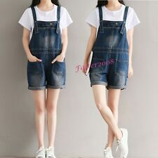 New Fashion Womens Denim Suspender Trousers Shorts Rompers Jumpsuits Short Jeans