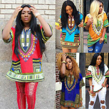5 Style Women African Print Dress Casual Straight Print Above Knee Dress LOT