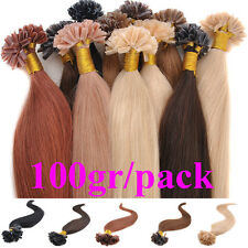 100s 100g Remy Pre Bonded Nail U Tip Real Human Hair Extensions Hairpiece