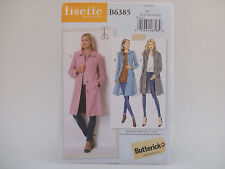 Butterick 6385 b6385 LISETTE Fitted Long Coat w/ ABCD Cup Pattern, 6-14 or 14-22