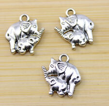 wholesale:25/50 /100 pcs Very cute elephant Tibet silver Charm pendant 15x14 mm