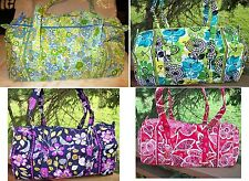VERA BRADLEY Small Duffel Travel Bag NEW Overnight Weekend Gym Dance Bag Duffle
