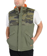 Adidas Mens Camo Padded Jacket Vest Army Green
