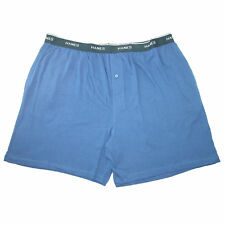 New Hanes Men's Cotton Jersey Knit Sleep Shorts with Exposed Waistband