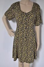 1990s Vintage Style Dress by Pop Boutique - dark blue with yellow flowers BNWT