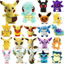 Pokemon Collectible Plush Soft Toy Eevee Pikachu Squirtle Stuffed Cuddly Doll