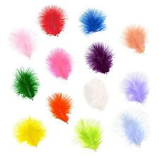 """1"""" - 3"""" Marabou Feathers - You Choose Colour & Pack Size - Free 1st Class P&P"""