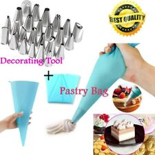 24 Pcs Icing Piping Nozzles Pastry Tips Cake Sugarcraft Decorating Tool /Bag SF