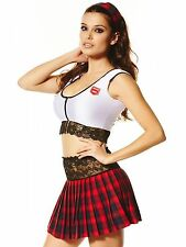 SALE Ann Summers Textbook Tease, White/Red, 6-30 *NEW*RRP£25 School Fancydress,