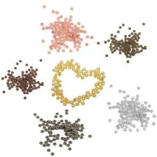 100pcs Gold Bronze Silver 4mm Metal Snowflake Spacer Beads For Jewellery Making