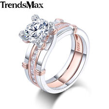 7mm Womens Girls 925 Sterling Silver Wedding Engagement US Sz 6-9 Band Ring