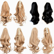 Wavy hair Claw Jaw Clip Ponytail Wavy hair 100%  Human Hair Extension Hairpiece