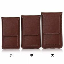 Leather Card Slot Sleeve Pouch Belt Holster Case Cover For iPhone 6 Galaxy Note4