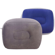 Inflatable Foot Rest Pillow Travel Flight Pillow Cushion Leg up Home Office EB5