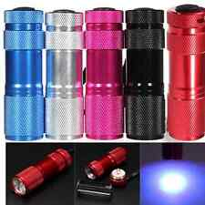 1x MINI 9 LED Ultra Violet UV Blacklight Portable Flashlight Torch Light Lamp
