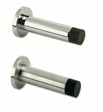 ZAS07 - 70mm Satin Stainless Steel Heavy Duty Solid Projection on Rose Door Stop