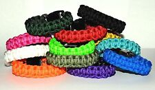 550 Paracord Survival Bracelet Cobra Solid Colors ~ Camping Military Tactical