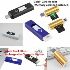 USB Electronic Rechargeable Battery No Gas Flameless Cigar Cigarette Lighter CS