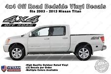 4x4 Off Road Bedside Vinyl Decals Stickers fits Nissan Titan King Crew Cab LE SE