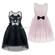 Baby Kids Toddler Girls Princess Birthday Party Tulle Dresses Formal Wedding New
