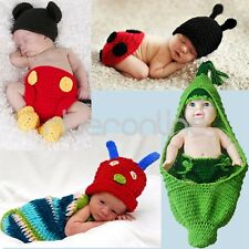 Infant Baby Boy Girl Crochet Knit Costume Photo Prop Hat Outfits Sets Photograph