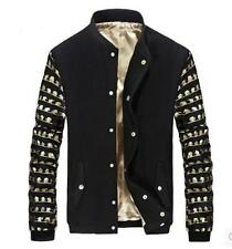 Mens Stand Collar Fashion Korean New Outwear Boy Coats Slim Fit Jacket Casual