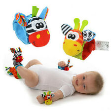 New Baby Infant Kids Wrist Strap Watch Foot Sock Rattles Toys Finders Soft