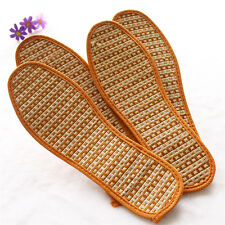 1 Pair Breathable Anti-Bacterial Bamboo Charcoal Hand-Woven Shoe Pads Insoles CN