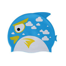 Strong Elasticity Silicone Kids Children Swimming Cap Hat Lovely Fish Swim Hat