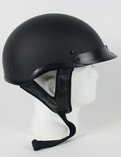 DOT APPROVED FLAT BLACK MOTORCYCLE HALF BEANIE HELMET - free shipping