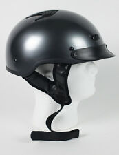 DOT APPROVED BLACK CHROME MOTORCYCLE HELMET - free shipping