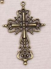 10pcs/lot Cross Design Charms Pendant For Jewelry Making (Size:42*63mm)