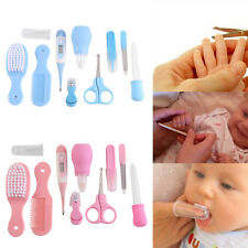 10X/set Infant Newborn Baby Health Care Kit Nail Hair Thermometer Grooming Set M