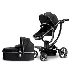 Luxury Baby Stroller 3 in 1 High Landscape foldable pushchair bassinet stable