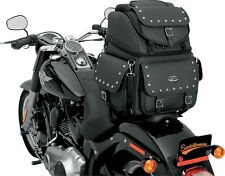 Saddlemen BR3400EX/S Combination Backrest, Seat and Sissy Bar Bag with Studs
